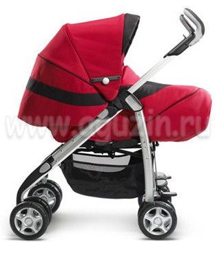Коляска Silver Cross 3D Pram System Rouge