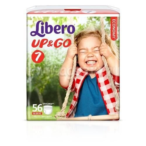 Трусики Libero (Либеро) Up & Go giga extra large plus 16-26 кг (7) 56шт.