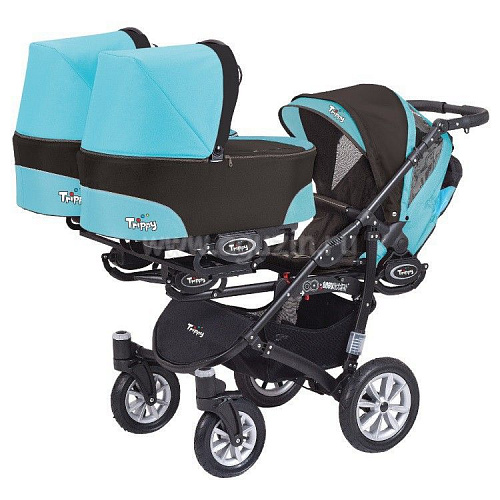 Коляска 2 в 1 Babyactive Trippy Blue
